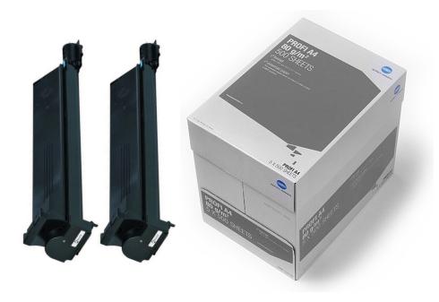 2x toner černýpro bizhub C250/C250P/C252/C252P + karton papíru KM Profi zdarma