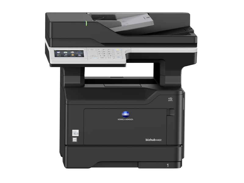 Konica Minolta bizhub 4422 - černobílá laserová multifunkční tiskárna - REPASOVANÝ STROJ